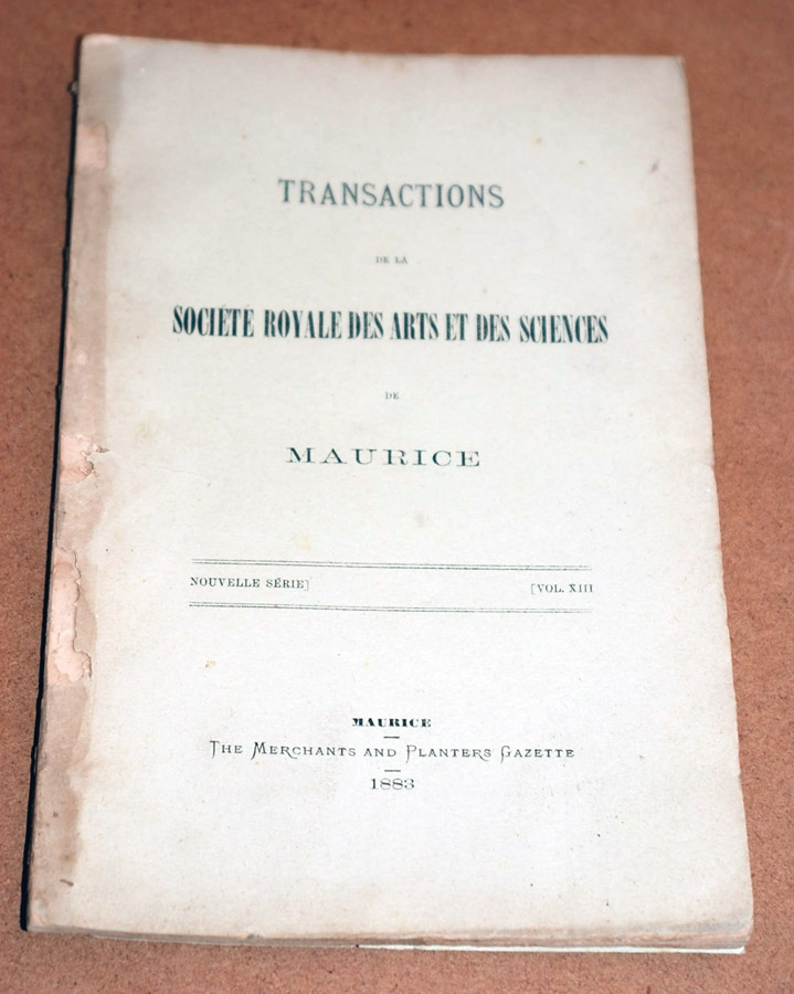 Transactions XIII 1883