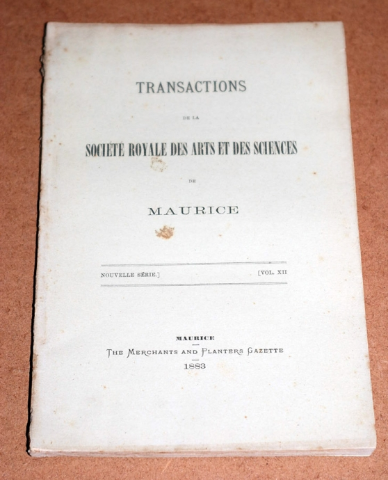 Transactions XII 1883