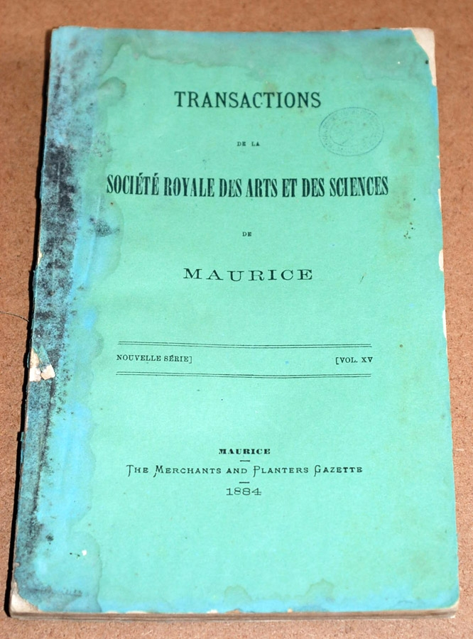 Transactions XV 1884