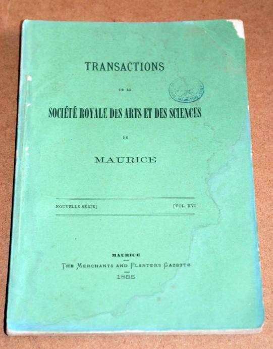 Transactions XVI 1885