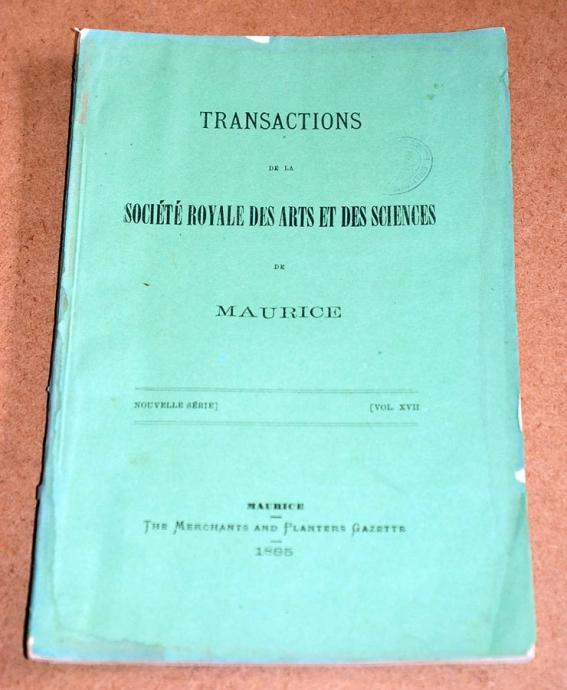 Transactions XVII 1885