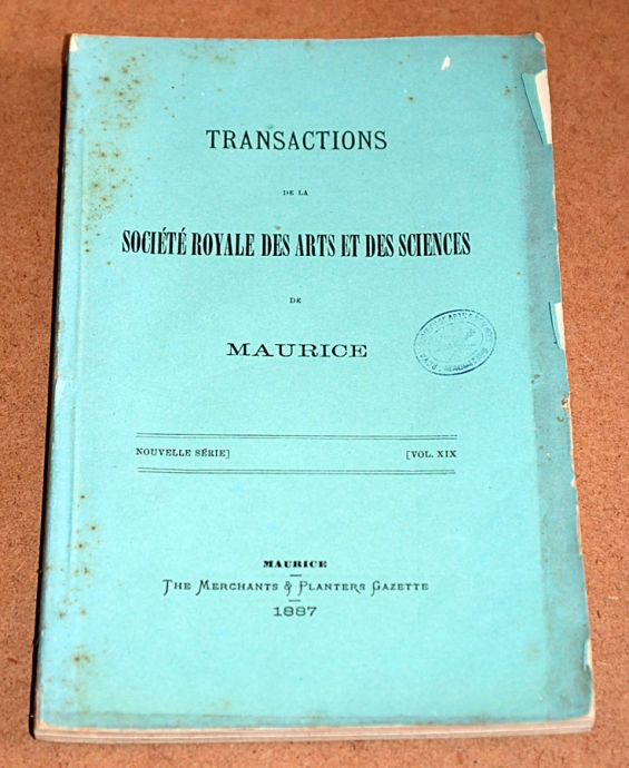 Transactions XIX 1887