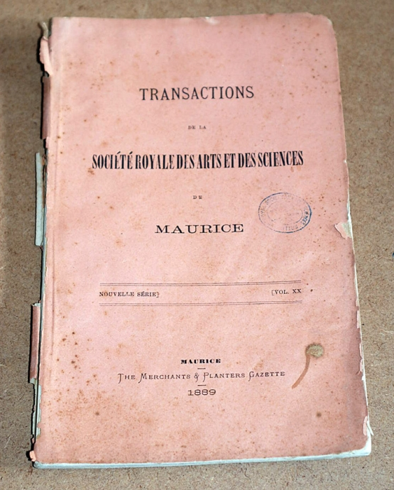Transactions XX 1889